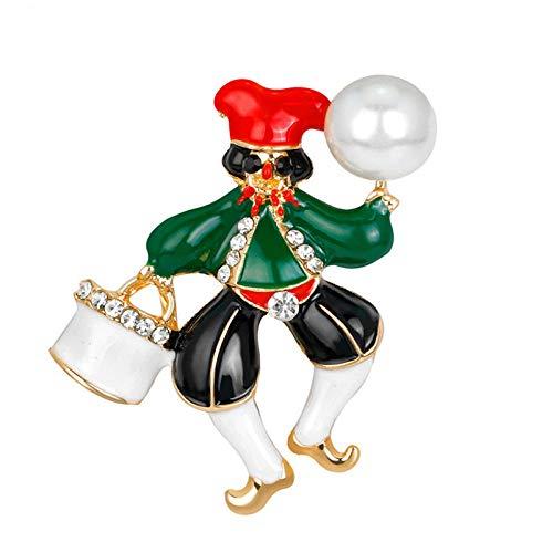 YRFZ Broschen & Anstecknadeln Für Damen Mode Weihnachten Brosche Niedlichen Clown Brosche Legierung Öltropfen Brosche