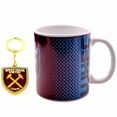 Official West Ham United Mug & Keyring Gift Set