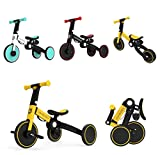 3 in 1 Toddler Bike Kids Tricycle Children Balance Bike Push Bicycle Pedal Trike Bike Removable Pedals Lightweight Foldable No Assembly 2-4 Year Old