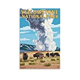 Huihuang Yellowstone National Park Poster auf Leinwand,