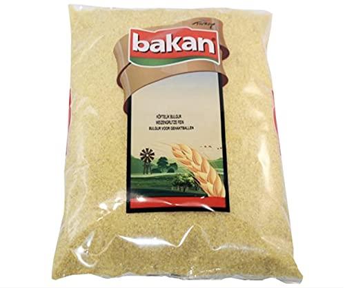 Bakan Bulgur Fein, Boulgour, Köftelik Bulgur, Kisirlik Bulgur, Hierba de trigo duro 800 g