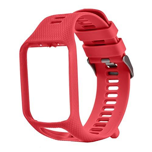 Bracelet pour Tomtom 1 Multi-Sport GPS HRM CSS AM Cardio Runner Watch Silicone Soft Strap Bracelet Bracelet Rouge