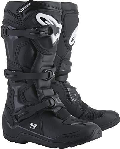 Alpinestars Unisex Erwachsene Tech 3 Enduro Stiefel, Schwarz, Größe 44 (Mehrfarbig, Einheitsgröße