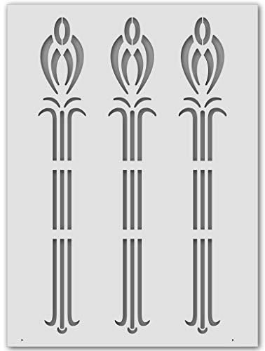 Wandschablone Jugendstil-Rispe (44 x 60 cm)