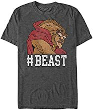 Beauty and the Beast #Beast Mens Graphic T Shirt,Charcoal Heather,X-Large