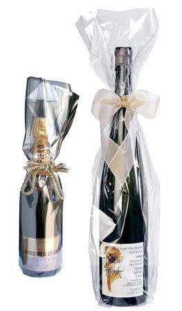 Flaschenbeutel Transparent Wein/Sekt; Maße: 180 x 500 mm; VE: 50