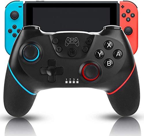 Nintendo Switch Controller, Sendowtek Wireless Controller für Nintendo Switch/Switch Lite, Dual Vibration mit Dual Shock Gyro Achse Einstellbarem Turbo Funktion, Bluetooth Drahtloser Gamepad