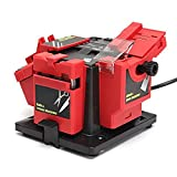Syhonic New 220-240V 96W Electric Grinder Multifunction Knife Sharpener Grinding Drill Tool(Red)