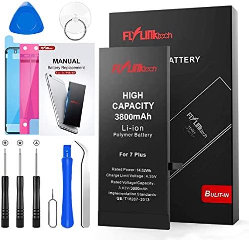 Batería para iPhone 7 Plus 3800mAH con 31% más de Capacidad Que la batería Origina, FLYLINKTECH Reemplazo de Alta Capacidad Batería para iPhone 7 Plus con Kits de Herramientas de reparación