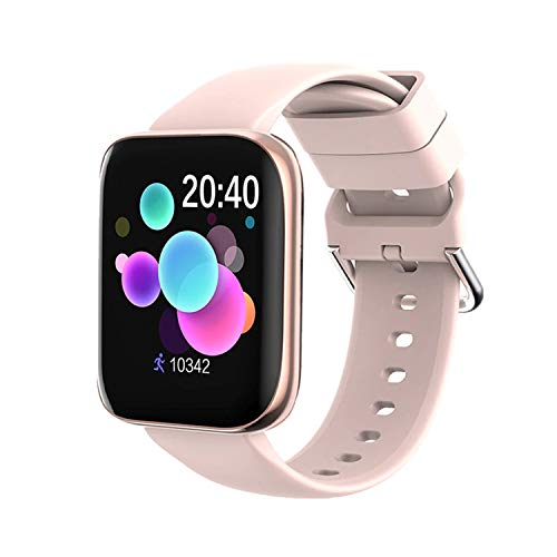 Smart Watch 2020 Full Touch, Fitness Tracker with Heart Rate Blood Pressure SP02 Sleep Monitor Pedometer Activity Tracker Step Counter IP67 Waterproof with iOS Android Best Gift for Men Women (Gold)