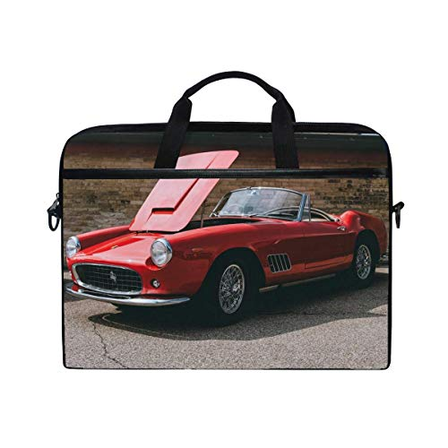 Ferrari Convertible Luxury Laptop Shoulder Messenger Bag Case Sleeve for 14 inch to 15.6 inch with Adjustable Notebook Shoulder Strap