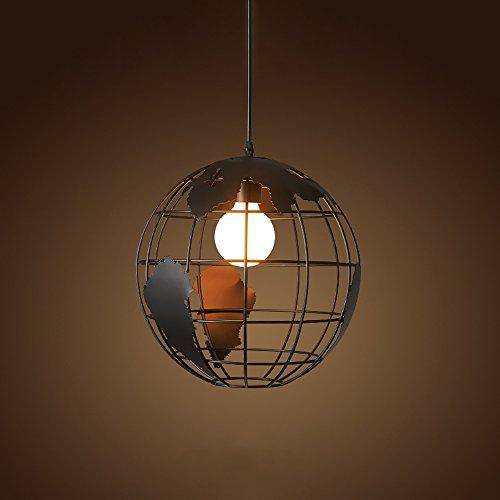 HJR-Lustres Le lustre simple simple européen moderne de table de fer de restaurant de Tableau Taille: 23X30cm A+ (Couleur : NOIR)