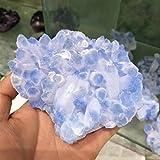 ABCABC 400-450 g Mineral clúster Azul Cristal Natural Rare Boda espécimen decoración del Acuario