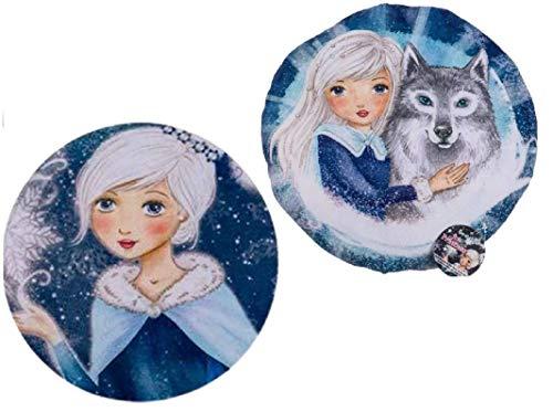SL Pack de 2 Cojines Redondo Terciopelo de Princesa 28cm c/u