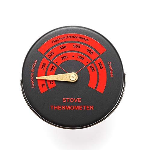 Termometro magnetico per stufa e legna con 3 zone di indicazione, monitoraggio della temperatura del camino, può essere posizionato sulla superficie delle stufe o sul tubo della canna fumaria.