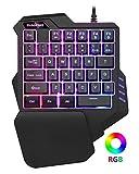 ASAY4u one Handed Gaming Keyboard, Gaming keypad,RGB LED Backlit, 35 programmable Keys for one Handed Keyboard/Typing