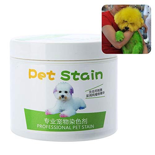 yibenwanligod Anti-Allergisches Haarfärbemittel für Katzen und Hunde, 100 ml Christmas Green