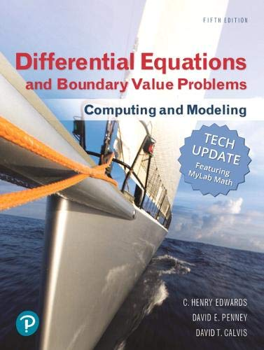 Differential Equations and Boundary Value Problems: Computing and Modeling (Tech Update)