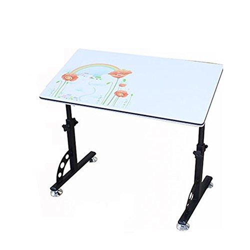 JU FU Einfache Laptop Tisch Nachttisch mit Pulley Verstellbare Tischhöhe Lounger Lernen Schreibtische Klapp Storage Desktop Tilt optionale Farbe | (Farbe : 04)