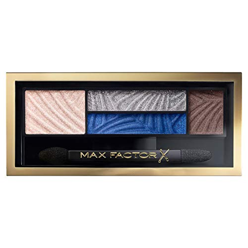 Max Factor Palette Smokey Eye Drama Kit, 4 Ombretti Iper Pigmentati Modulabili, 006 Azure Ailure