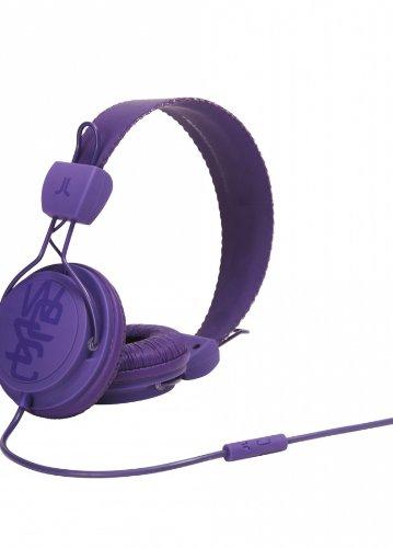 WeSC WESC7001761 Matte Conga - Auriculares supraurales (incluye adaptador para teléfonos Sony Ericsson y Nokia), color morado
