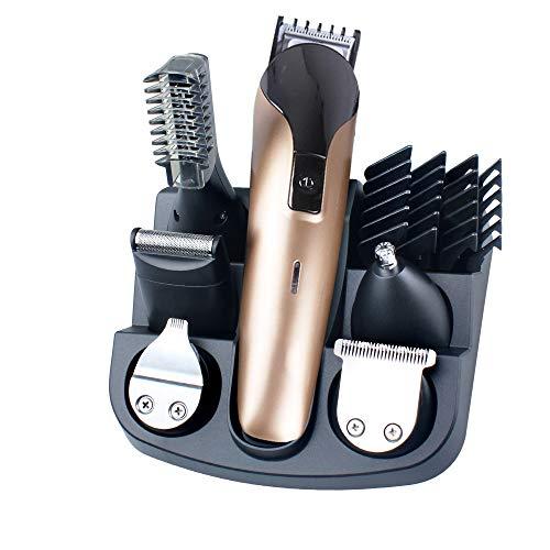 Hair Clippers Tondeuse à Cheveux électrique multifonctionnelle Tondeuse électrique Tondeuse à Cheveux Costume de Charge Fader électrique Professionnel 6 en 1 Tondeuse sans Fil avec Stockage de Base