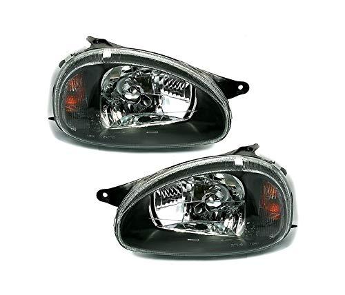V-MAXZONE VP120 Jeu de phares en verre transparent Noir
