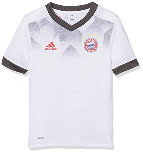adidas Kinder FC Bayern München Home Pre-Match T-Shirt, White/DGH Solid Grey, 176