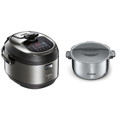 Bosch MUC88B68ES AutoCook + Olla extra - Robot de cocina multifunción, 1200 W, 5L, acero...
