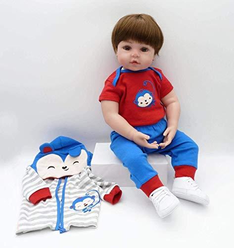 N-B 47Cm Babypuppen Spielzeug Weiches Silikon Vinyl Reborne Menino Puppen Spielzeug House Play Kinderurlaub