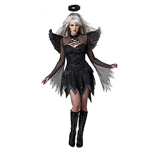 PUYEI Women's Costume Dress Halloween Carnival Party Costume Demon Demon Angel Ghost Women Adult Stage Performance Dress Scary Costume Women's Costume Halloween