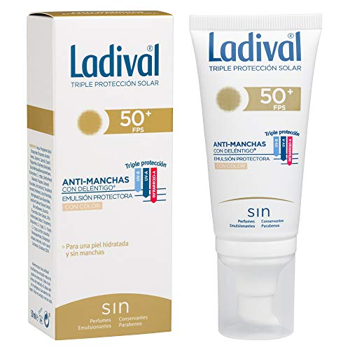 Ladival Protector Solar Facial Anti Manchas con Color - FPS 50+, 50 ml