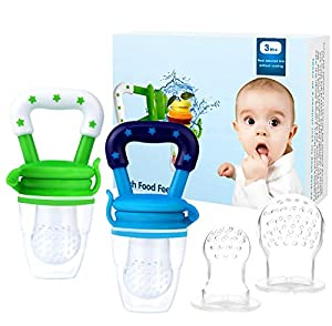 QUALITY & SAFETY ASSURANCE - Bestwin baby fruit feeders are made from the highest food grade silicone that is BPA Free, Latex Free, Petroleum Free, Lead Free and Phthalates Free, so it is safe for baby to nibble and munch on. GUM SORENESS RELIEF - By...