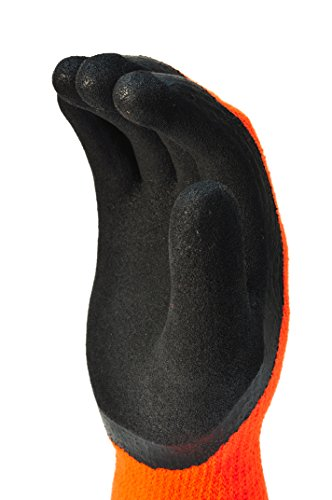 G & F 1528L GripMaster Cold Weather Outdoor Work Gloves, Winter Driving Gloves, Micro-Foam Latex Double Coated, heavy Duty, Large, 1 Pair