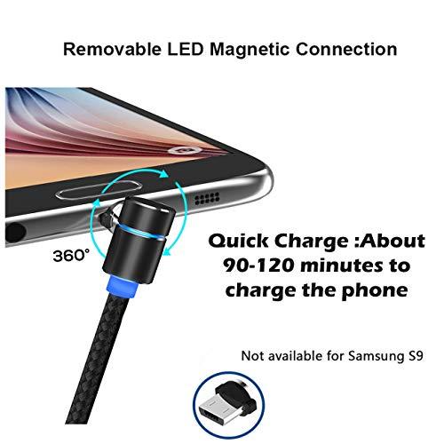 Kyerivs Magnetischer USB Adapter Magnet Micro USB Anschluss Ladekabelspitzen Rundkabel - ohne Datensynchronisation