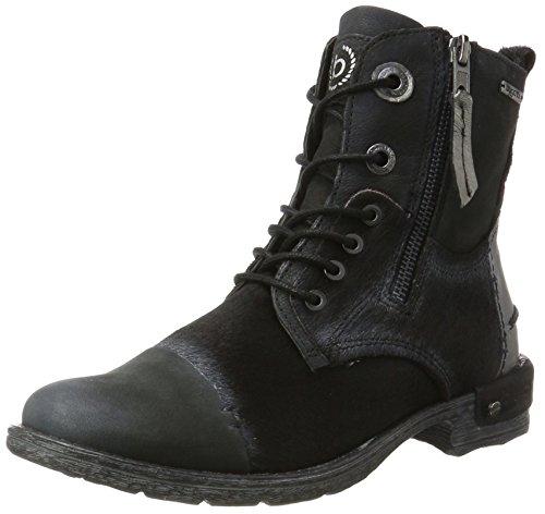 bugatti Damen 421330303919 Stiefel, Schwarz (Black/Metallic), 39 EU