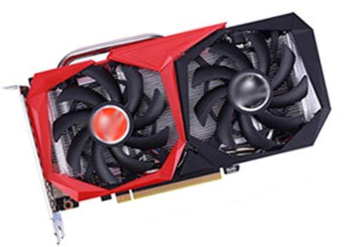 LYEJFF GeForce RTX 2060 6GB DDR6 Tarjetas de visualización de Juegos de 192 bits Tarjeta de gráficos Negros de Doble Ventilador para NVIDIA