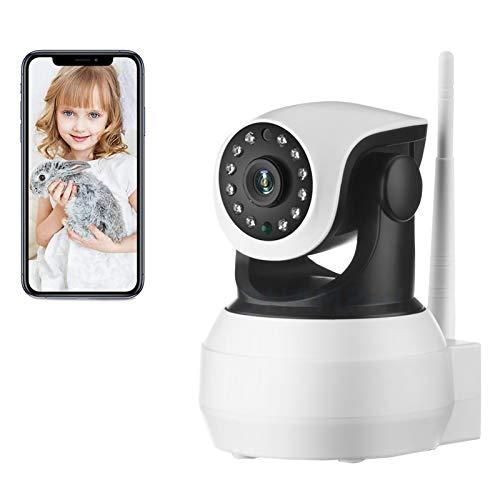 AINSS Cámara de Seguridad WiFi Interiores,Cámara de vigilancia IP CCTV PTZ 1080P HD,visión Nocturna,Voz bidireccional,Alarma,detección de Movimiento,Control Remoto,Bebé Pet Monitor (Cámara WiFi)