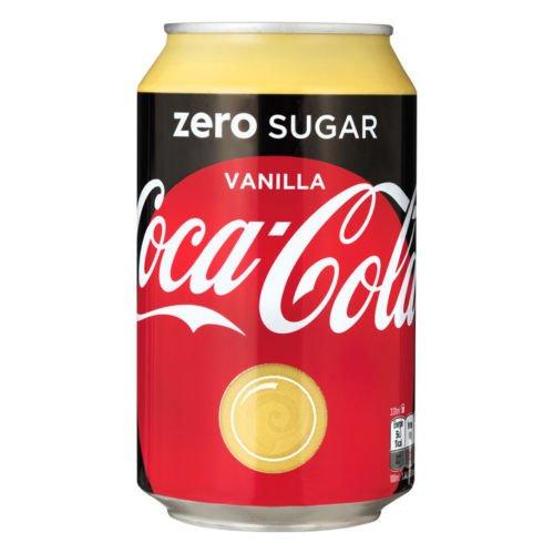 Coca Cola Zero Sugar Vanilla EU Dosen 0,33L Zuckerfrei Vanille 24 oder 72er Pack (24 x 0,33L)