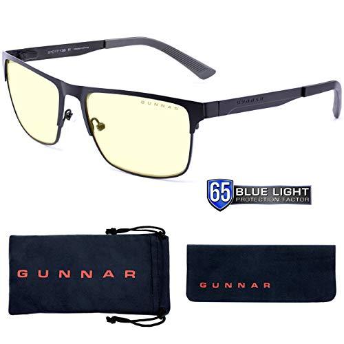 Gunnar Gaming- und Computerbrille | Pendleton, Slate Rahmen, Amber Linse | Blue Light Blocking Glasses | Patentierte Linse, 65% Blaulicht- & 100% UV-Lichtschutz zur Verringerung der Augenbelastung