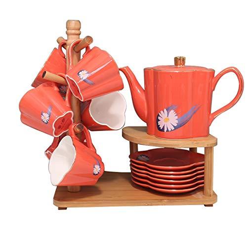 Tazas de Espresso Juego de té de cerámica de estilo nórdico Luz de lujo de lujo taza de té té de té de la tarde, taza de café innovadora personalizada para la familia, fiesta, boda, etc. Taza de té