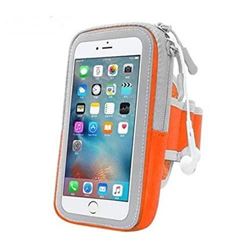 UKKD Bolso de Brazo Universal 4-6inch Mobile Motion Teléfono Armband Funda para Correr Sport Brazo Soporte del Teléfono en la Cubierta del Brazo-Orange