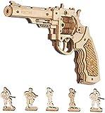 Robotime Toys Gun - Kit de construcción mecánica Modelo 3D Puzzle de Madera para niños de 14 años (Corsac M60)