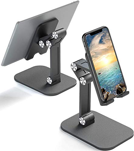 Soporte Móvil Mesa, Multiángulo Soporte Tablet Mesa, Soporte para Movil Compatible con iPhone 12/Xr/X/XS//8/7/6, Tablet, iPad, Samsung S8 S7, Huawei, Otras Android Teléfono