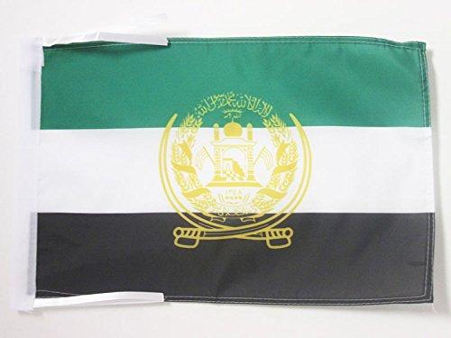 AZ FLAG Flagge Afghanistan ALT 2001-2002 45x30cm mit Kordel - AFGHANISCHE Fahne 30 x 45 cm - flaggen Top Qualität