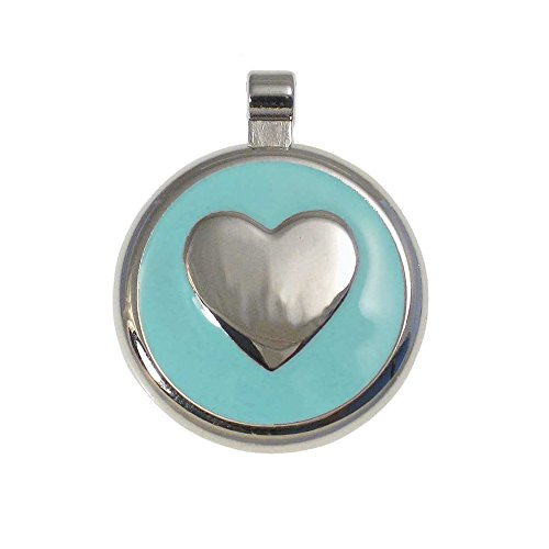 LuckyPet Heart Jewelry Pet ID Tag for Cats and Dogs, Personalized Engraving on The Back Side, Large Mint Heart