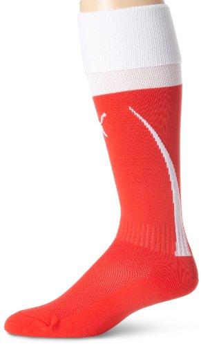 Puma Men's Power 5 Socks (Puma Red/Puma White, Medium)