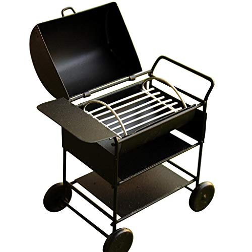 CuteExpress Miniature BBQ Grill Oven Model 1:12 Dollhouse Cooking Tool Garden Decoration Kicthen Accessories Roasting Cart Firewood Rack Holder (Square)