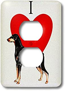 3dRose lsp_17302_6 I Love Doberman Pinchers Textured Outlet Cover