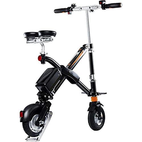 Bicicleta Eléctrica Plegable, Scooter Eléctrico Ligero, Bicicleta Eléctrica De Ciudad Ajustable Portátil, Velocidad Máxima De 25 Km/H, para Estudiantes Trabajadores De Oficina, Conducción Al Aire L